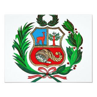 Peru coat of arms card