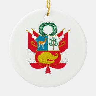 Peru Coat of Arms Ceramic Ornament