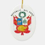 Peru Coat Of Arms Christmas Tree Ornament