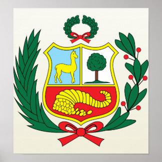 Peru Coat of Arms detail Poster