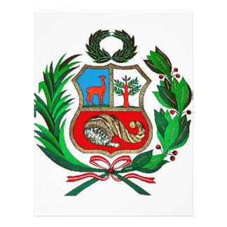 Peru coat of arms flyer