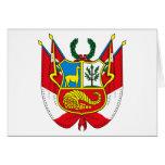 Peru Coat of Arms Greeting Card