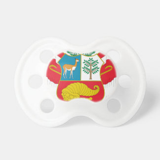 Peru Coat of Arms Pacifier