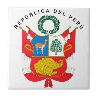 Peru Coat Of Arms Tile
