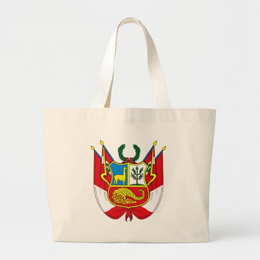 Peru Coat of Arms Tote Bag
