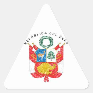 Peru Coat Of Arms Triangle Sticker