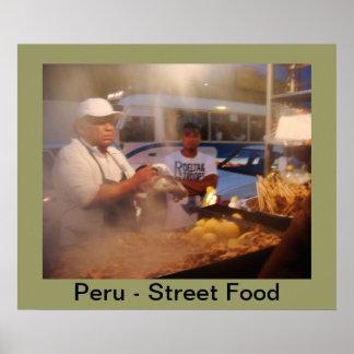 Perú - comida de la calle - Anticuchos Póster