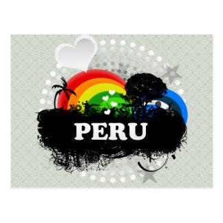 Perú con sabor a fruta lindo tarjeta postal