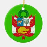PERU* Custom Coat of Arms Christmas Ornaments