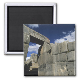 Perú, Cuzco, fortaleza de Sacsayhuaman, buen ejemp Imán Cuadrado