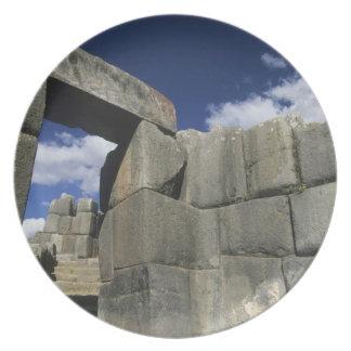 Perú, Cuzco, fortaleza de Sacsayhuaman, buen ejemp Platos Para Fiestas