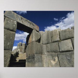 Perú, Cuzco, fortaleza de Sacsayhuaman, buen ejemp Póster