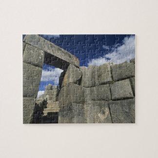 Perú, Cuzco, fortaleza de Sacsayhuaman, buen ejemp Puzzles Con Fotos