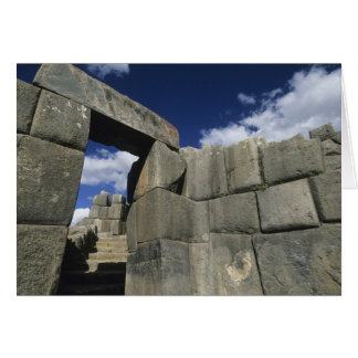 Perú, Cuzco, fortaleza de Sacsayhuaman, buen ejemp Tarjeta De Felicitación