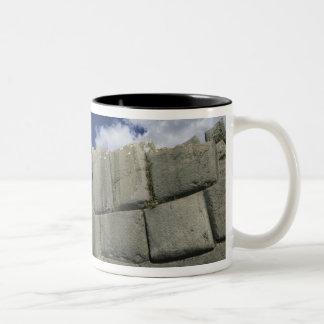 Peru, Cuzco, Sacsayhuaman fortress, good example Two-Tone Coffee Mug