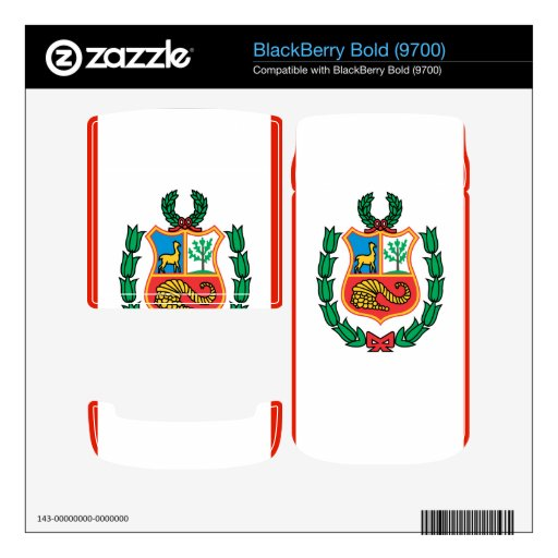 Peru Decal For BlackBerry Bold