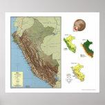 Perú detalló el mapa 1970 póster