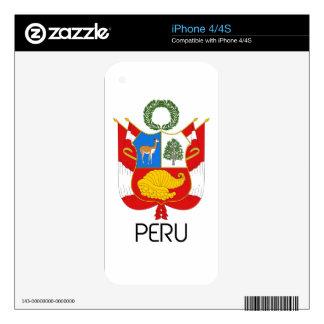 PERU - emblem/flag/coat of arms/symbol Decals For iPhone 4S