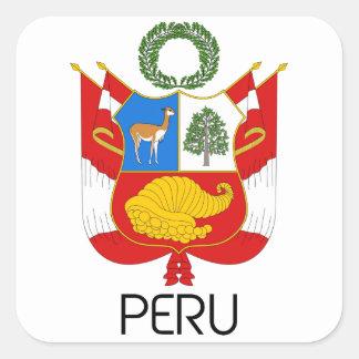 PERU - emblem/flag/coat of arms/symbol Square Sticker