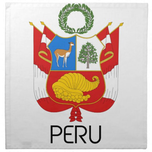 PERÚ - emblema/bandera/escudo de armas/símbolo Servilleta
