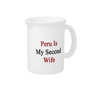 Perú es mi segunda esposa jarra para bebida