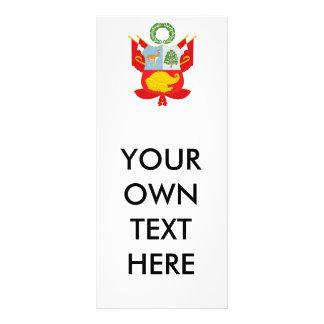 Perú - escudo de armas tarjetas publicitarias a todo color