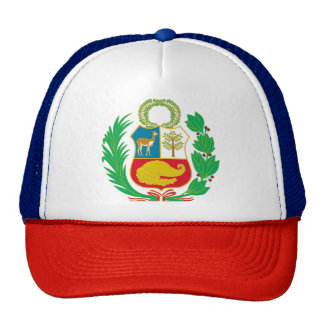 Perú - escudo Nacional (emblema nacional) Gorros Bordados