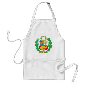 Peru - Escudo Nacional (National Emblem) Adult Apron