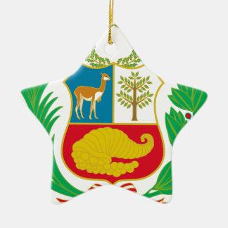 Peru - Escudo Nacional (National Emblem) Ceramic Ornament
