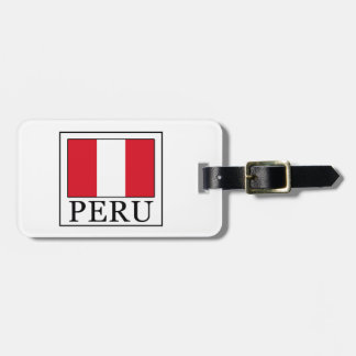 Perú Etiqueta De Maleta