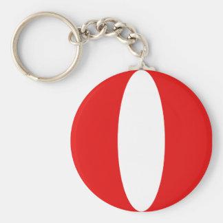 Peru Fisheye Flag Keychain