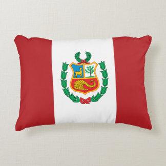 Peru Flag Accent Pillow