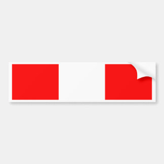 Peru Flag Bumper Sticker