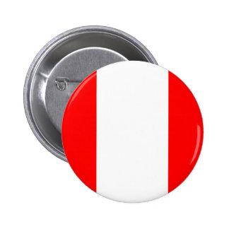 Peru Flag Pinback Button