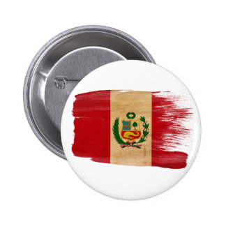 Peru Flag Pinback Buttons