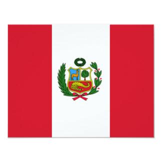 Peru flag card