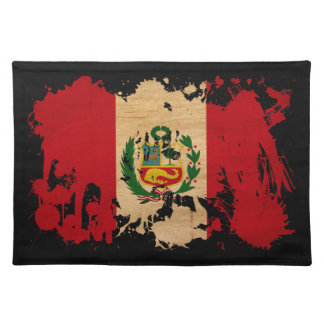 Peru Flag Cloth Placemat