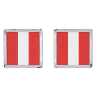 Peru Flag Cufflinks