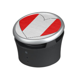 Peru Flag Heart Bluetooth Speaker