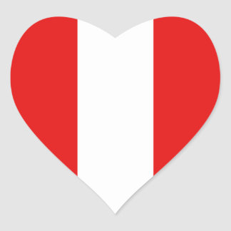 Peru Flag Heart Sticker
