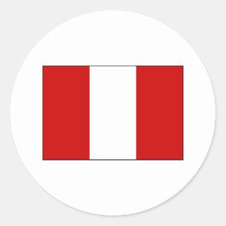 Peru FLAG International Stickers