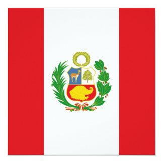 Peru Flag Invitation