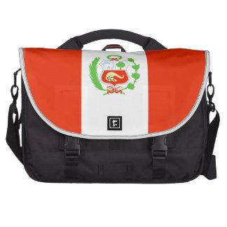 Peru Flag Laptop Commuter Bag