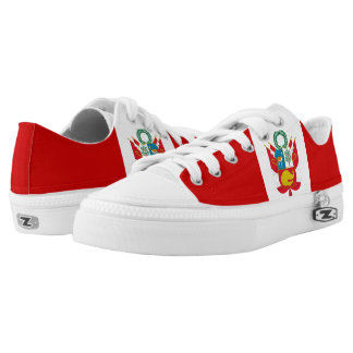 Peru Flag Low-Top Sneakers