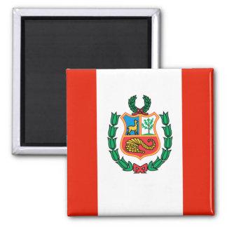 Peru Flag Refrigerator Magnet