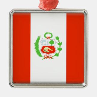 Peru Flag Metal Ornament