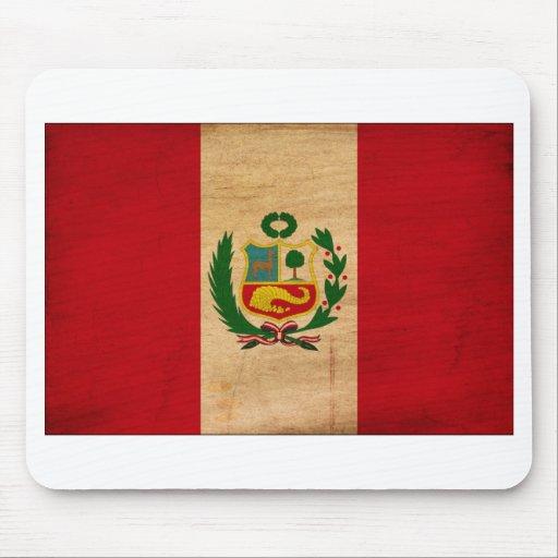 Peru Flag Mouse Pads