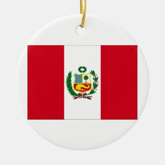 Peru Flag Christmas Tree Ornaments