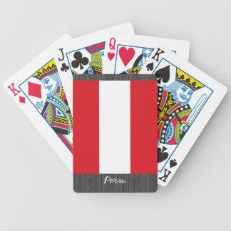 Peru Flag Playing Cards Bicycle Playing Cards