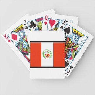 Peru Flag Poker Cards